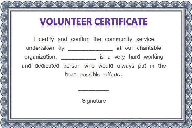 31+ Free Volunteering Certificate Templates [Word]