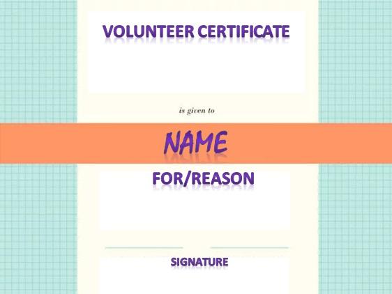 volunteering certificate template 25
