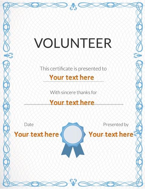 volunteering certificate template 30