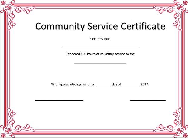 volunteering certificate template 7