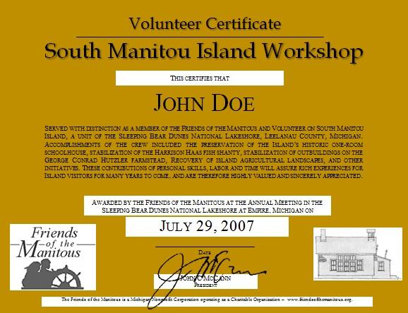 volunteering certificate template 9
